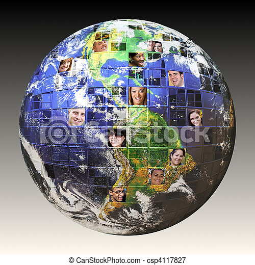 Global Network of People - csp4117827
