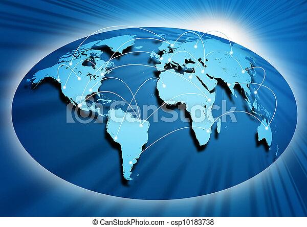 Globale Vernetzung - csp10183738