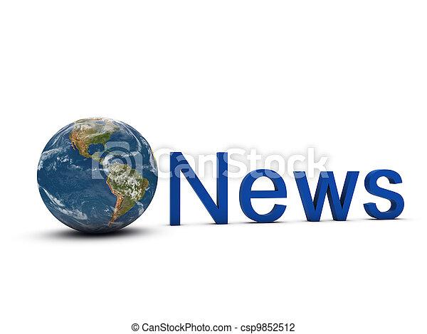 global news concept - csp9852512