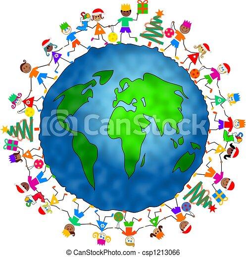 global, noël, gosses - csp1213066
