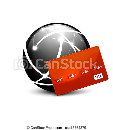 Global payment vector concept icon - csp13764379