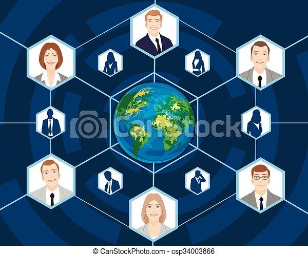 Gente en los negocios globales - csp34003866