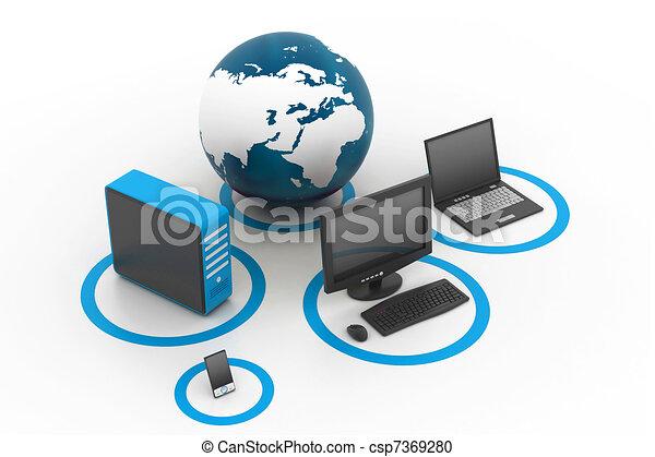global, réseau informatique - csp7369280