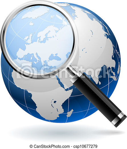 Global search concept isolated on white background. EPS10 file. - csp10677279