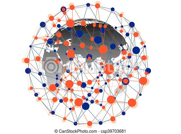 Global Social media - csp39703681