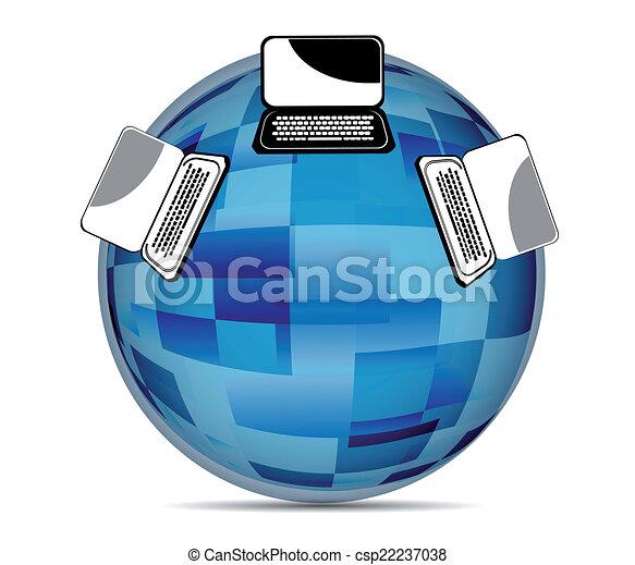 Global Social media illustration - csp22237038