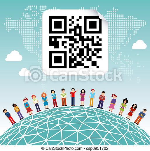 Global social media network around the world - csp8951702