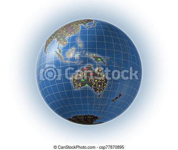 Global stock market symbols - csp77870895