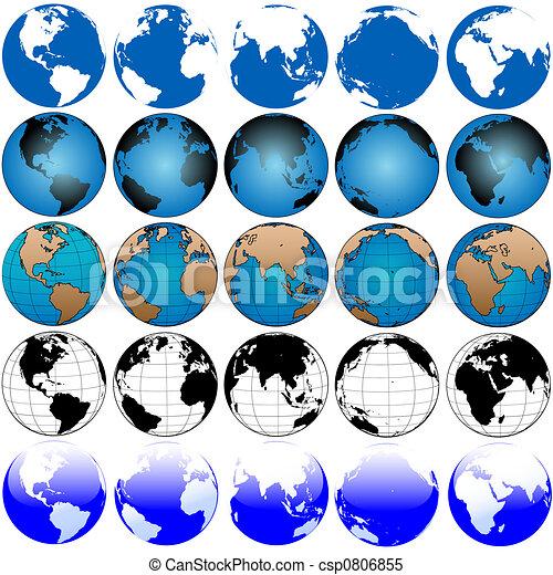 global, terra, 5x5, jogo, mapa - csp0806855