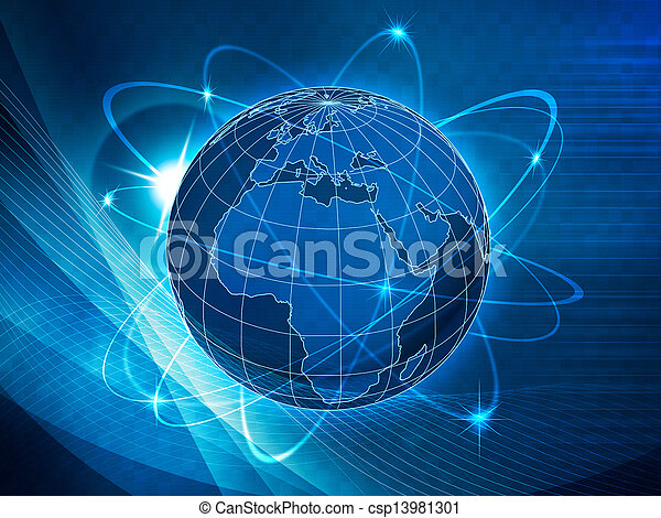 Global transportation and communications background - csp13981301