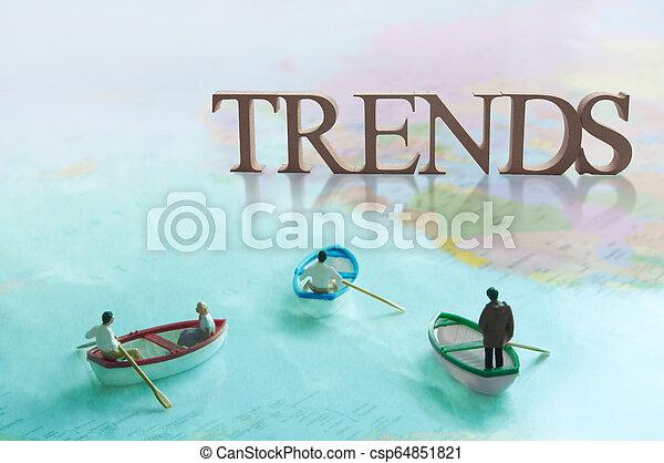 Global trends concept - csp64851821