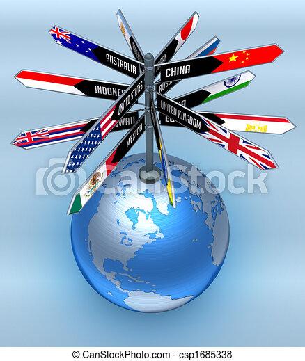 Negocios globales y turismo - csp1685338