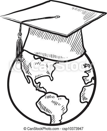 Vector de educación global - csp10373947