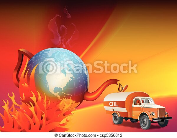 Global warming and climate change illustration - csp5356812