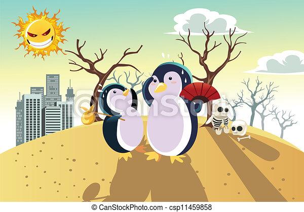 Global warming concept - csp11459858