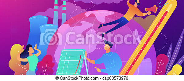 Global warming concept vector illustration. - csp60573970