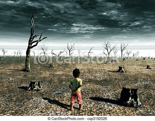 Global Warming Illustration - csp3192026
