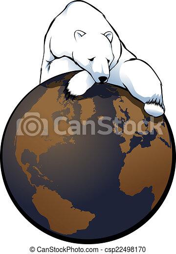 Global Warming Polar Bear - csp22498170