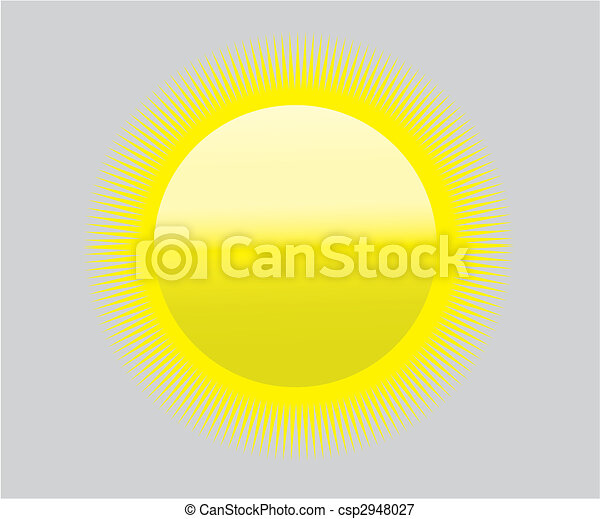 Global Warming Sun Icon Symbol Heat Drought Symbol For Global