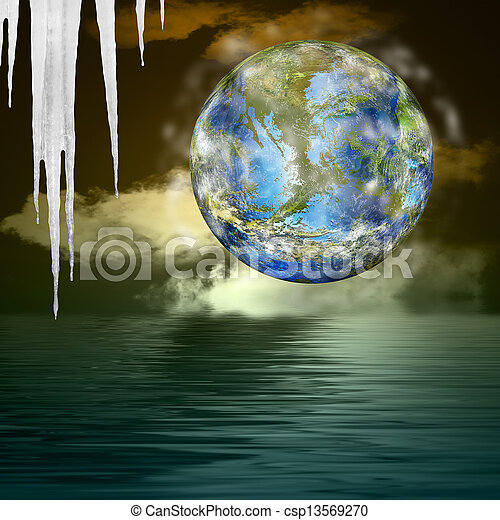 Global warming.Ecology concept - csp13569270