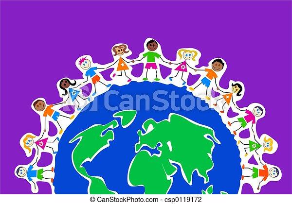 globale, bambini - csp0119172