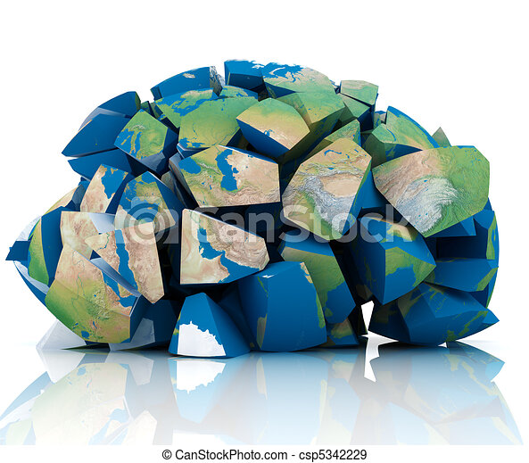 Globale distruzione distrutto terra 3d illustrazione for Disegno 3d free