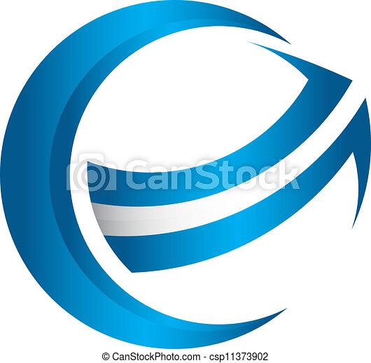 globale, freccia, 3d - csp11373902