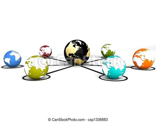 Globale Kommunikation - csp1336883