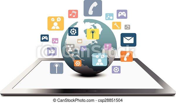 globale mededeling, concept - csp28851504
