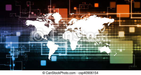 globale, tecnologia - csp40906154
