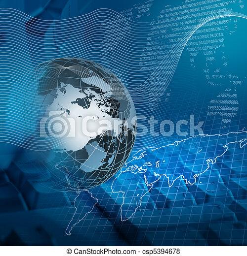 globale, tecnologia - csp5394678