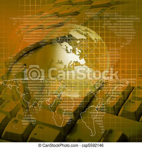 globale, tecnologia - csp5592146