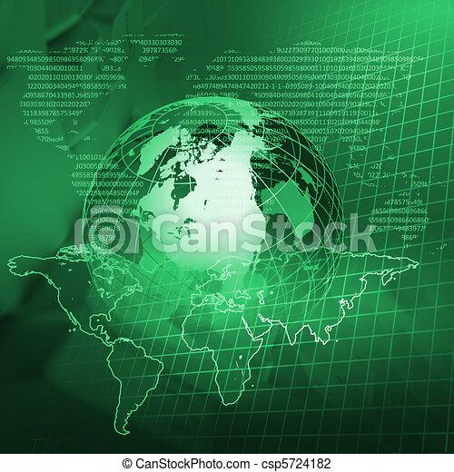 globale, tecnologia - csp5724182