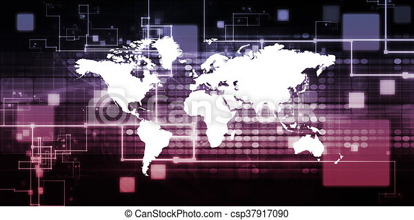globale, tecnologia - csp37917090