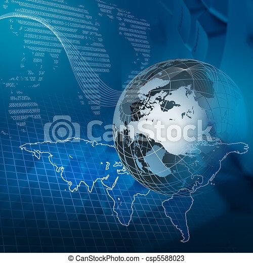 globale, tecnologia - csp5588023