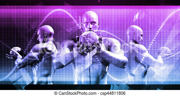 globale, tecnologia - csp44811806