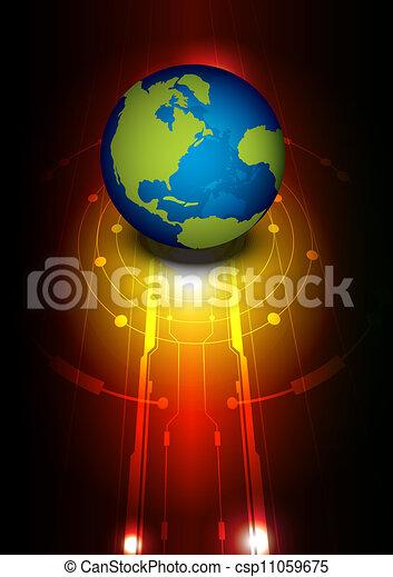 globale, tecnologia - csp11059675