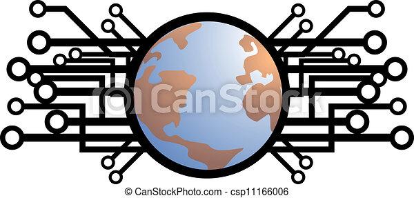 globale, tecnologia - csp11166006