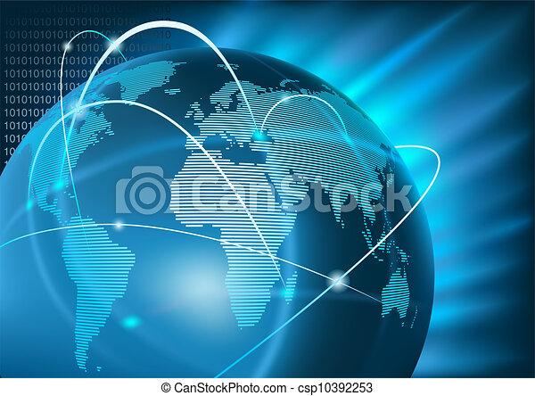 globale zaak, internet - csp10392253