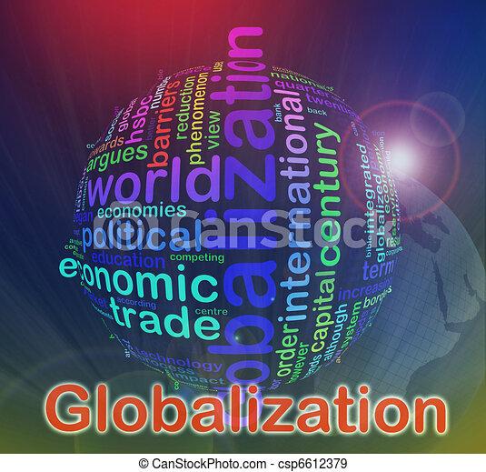 globalização, wordcloud - csp6612379