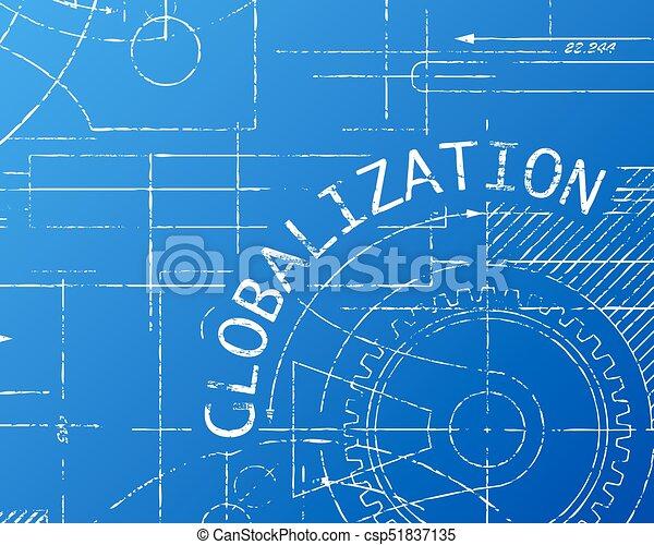 Globalization blueprint machine globalization word on vectors globalization blueprint machine csp51837135 malvernweather Choice Image