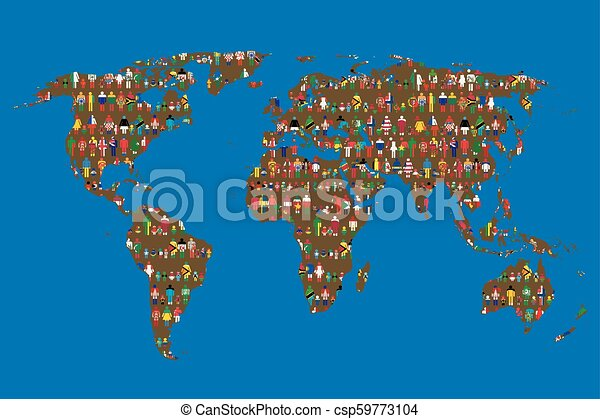 Globalizing concept of world map with people made from flags globalizing concept of world map with people made from flags csp59773104 gumiabroncs Gallery