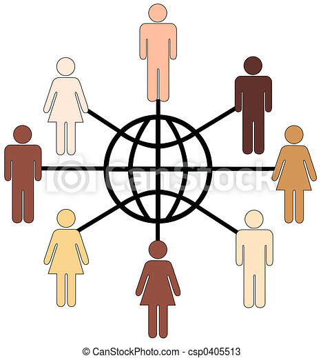 globally diverse people clean render of globally connected rh canstockphoto com