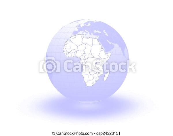 Globe. 3d. Africa. - csp24328151