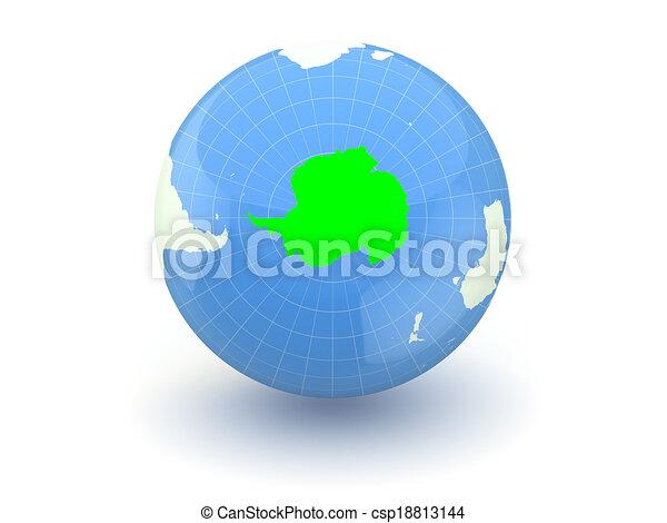 Globe. 3d. Antarctica. - csp18813144