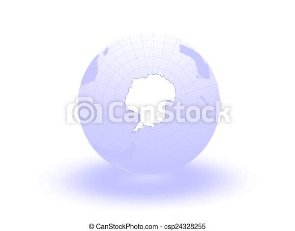 Globe. 3d. Antarctica. - csp24328255