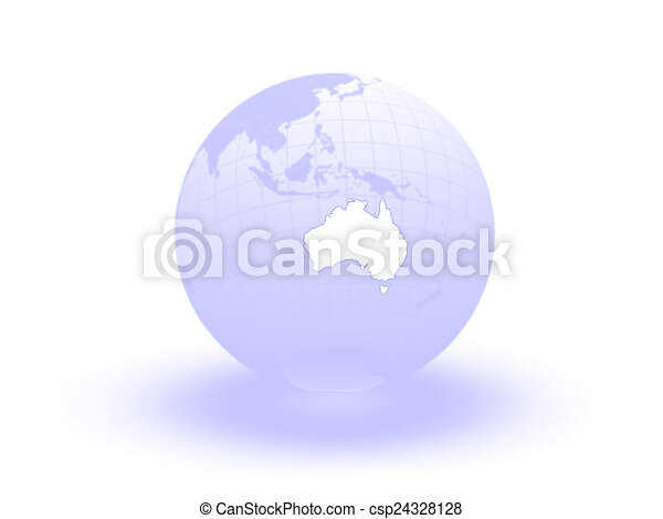 Globe. 3d. Australia. - csp24328128