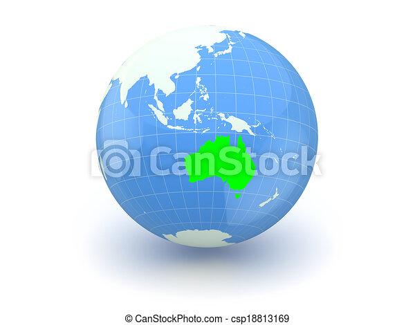 Globe. 3d. Australia. - csp18813169