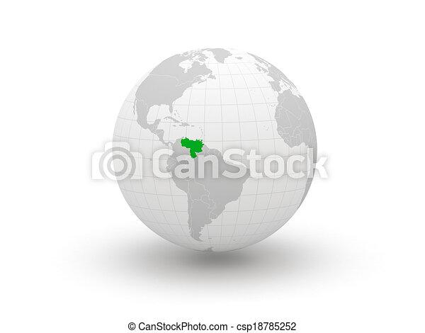 Globe. 3d. Brazil. - csp18785252