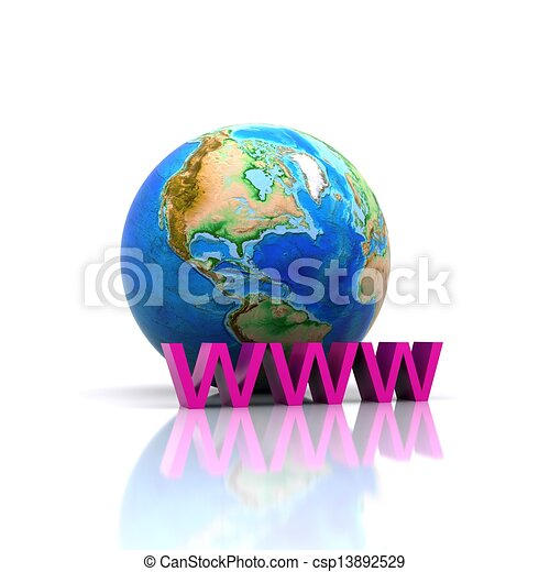 Globe - 3D - csp13892529
